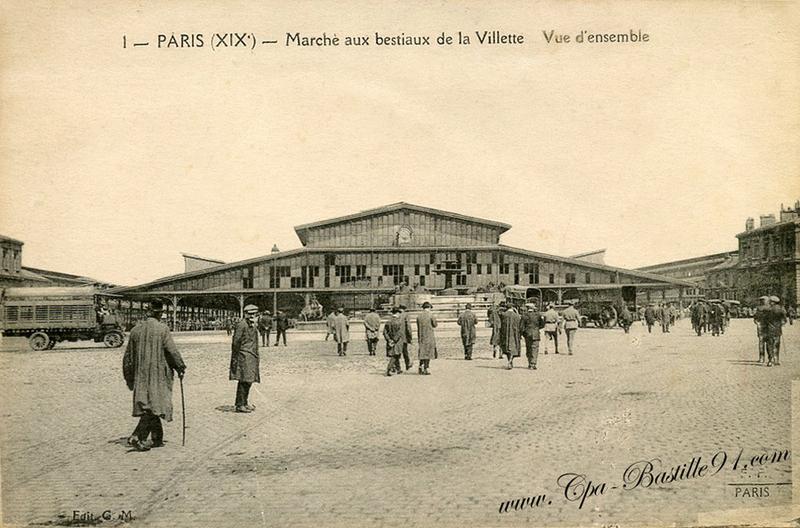 """La Grande Halle de la Villette, anciennement """"Halle aux boeufs"""""""