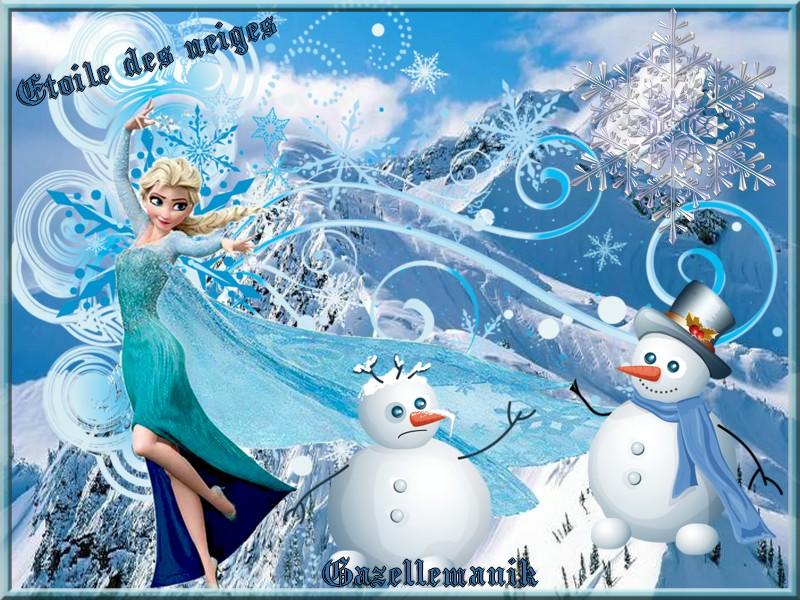 Défi pour Monia 59 blog en commun chez Dalila Gentille rebelle ! ( Etoile des neiges )