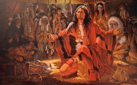 Sitting Bull's Vision, by Michael Gentry (1940-1994)