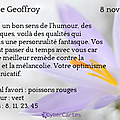 La saint geoffroy - 8 novembre 2014