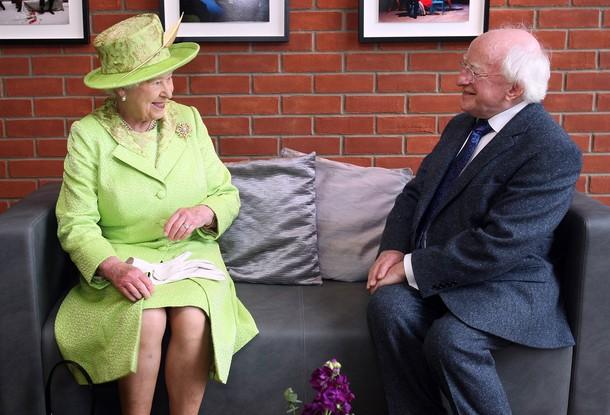Elizabeth et Philippe à Belfast
