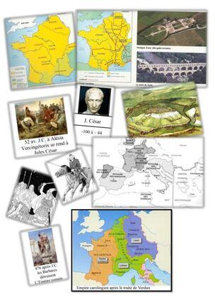histoire : plan de travail CM de la Gaule à la France version courte