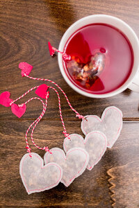 Diy Heart Shaped Tea Bags For Valentine's Day