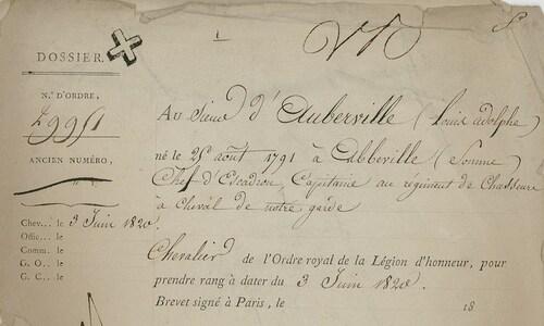 * D' AUBERVILLE  Louis-Adolphe