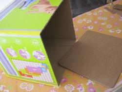 DIY: rangement récup de carton de couches.