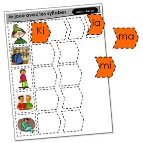 Je joue avec les syllabes (Un monde à lire CP)