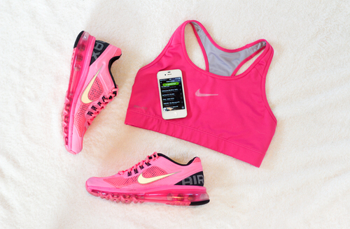 beautiful, clothes, fitness, girly, health, just do it, motivation, nike, pink, run, style, top, training, workout