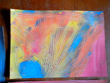 * Bricolage: peindre avec une fourchette