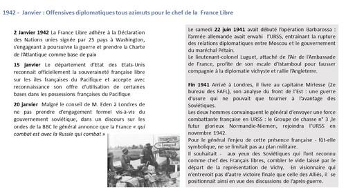 * Le général de Gaulle et la France Libre (1940-1943) - L'année 1942