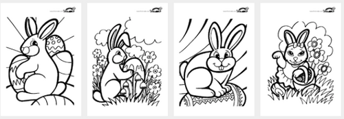 Cloches, dessins, coloriage, paques