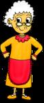 Dessins - La famille - la grand-mère
