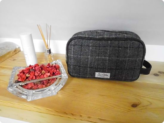 Trousse de toilette Harris Tweed