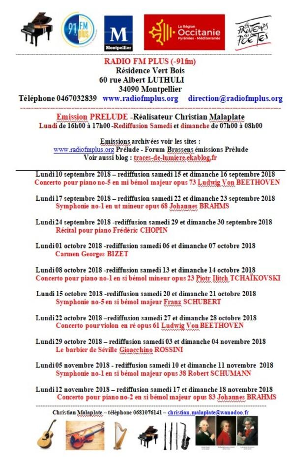 Émission Prélude 2018