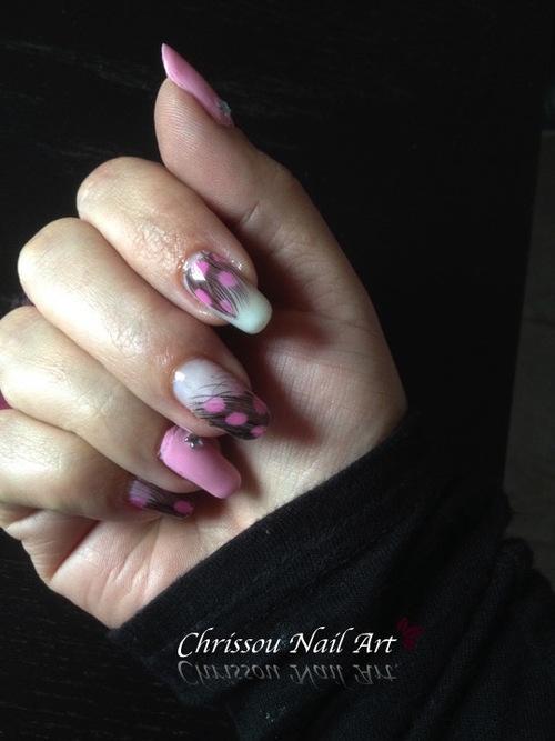 """Nail Art """"plumes"""""""