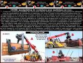 CHINE: manipulation de containers pour matériaux en vrac (...).