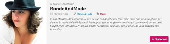 hellocoton, Ronde & Mode