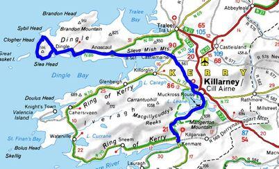"""Résultat de recherche d'images pour """"péninsule de dingle irlande carte"""""""