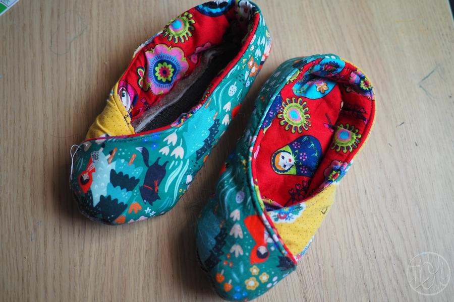 Des chaussons cousus ! (et une belle galère...)