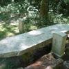 La borne frontière numéro 36 et la table des faceries sous le col de Lizuniaga (190 m)