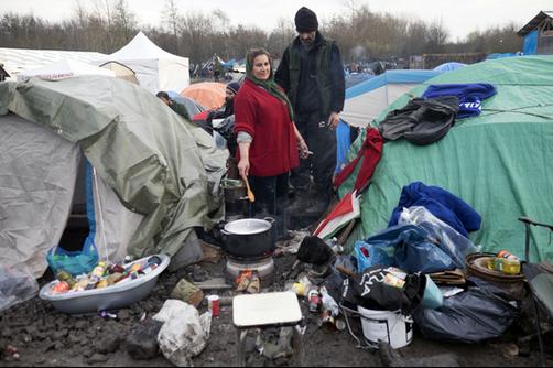 Diane Grimonet, Le Monde, camp de Grande-Synthe, 31-12-2015