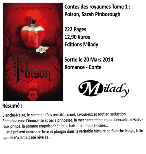 Contes des royaumes tome 1 : Poison, Sarah Pinborough