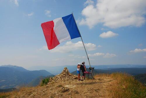 Le sommet, pour l'occadion il y avait un drapeau