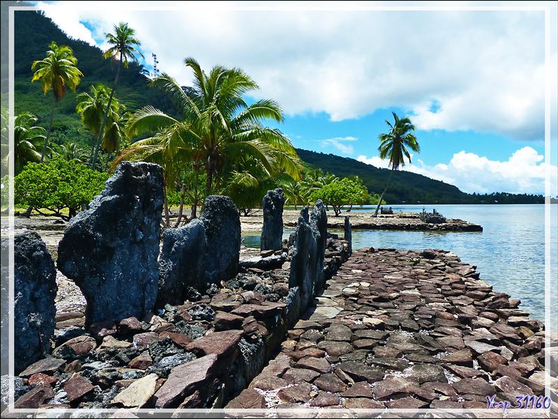 Centre cérémoriel (marae côtier) de Maeva - Huahine - Polynésie française