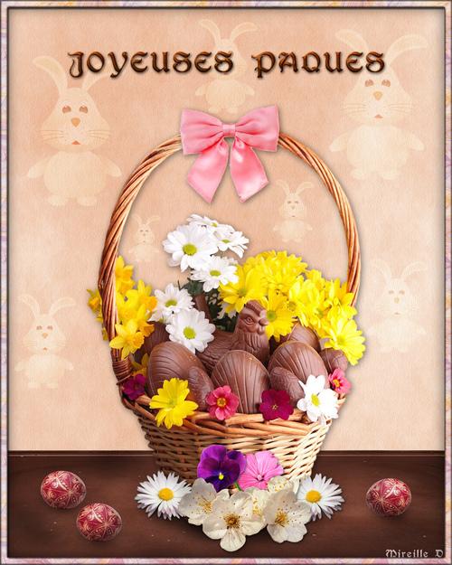Carte Joyeuses Pâques en Musique