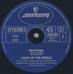 Light Of The World - I Shot The Sheriff