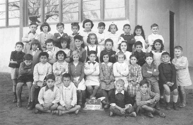 CP 1950-1951 Classe de Madame Robert