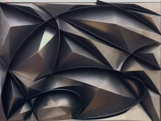 Giacomo Balla, Construction en plastique de bruit et vitesse, 1915