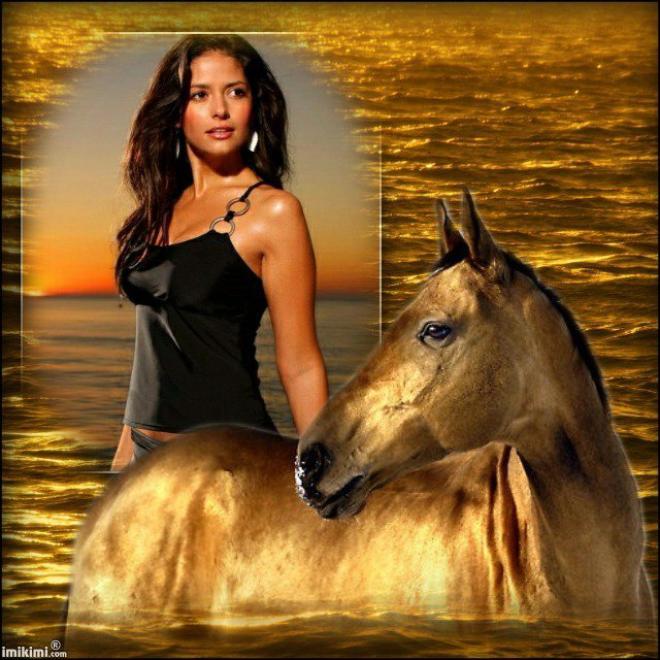 La native et le cheval.