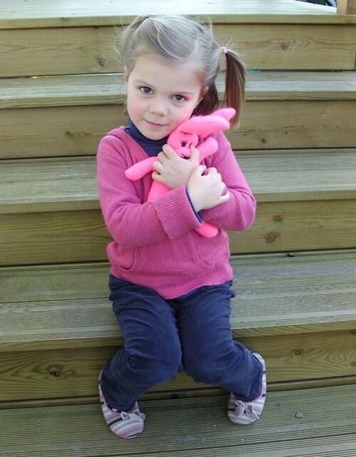 Les lapines en tissus adoptées par des petites filles !