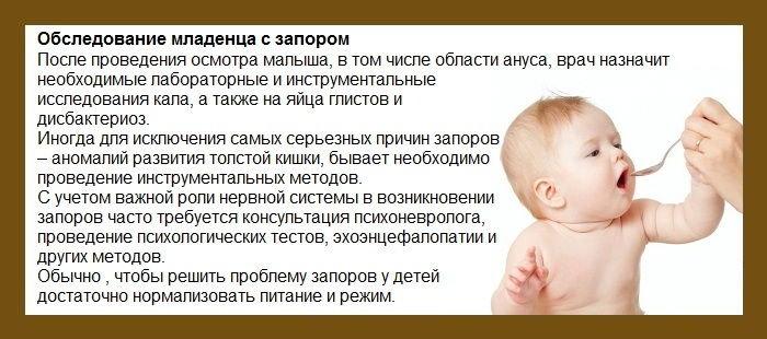 Что ребенку дать от запора