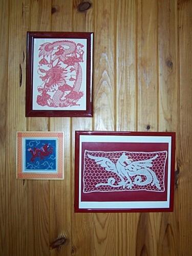 canevas dragon chinois fini accroché