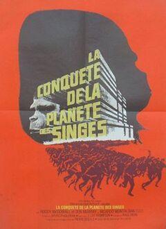 LA CONQUETE DE LA PLANETE DES SINGES AFFFICHE FRANCE 1972