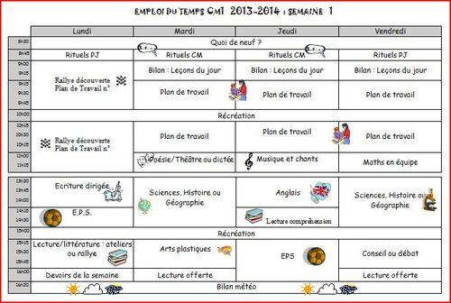 Emploi du temps 2013-2014