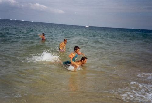 aout 1991 vacances à Groix