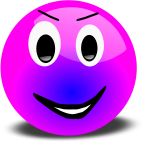 Smiley gros fushia