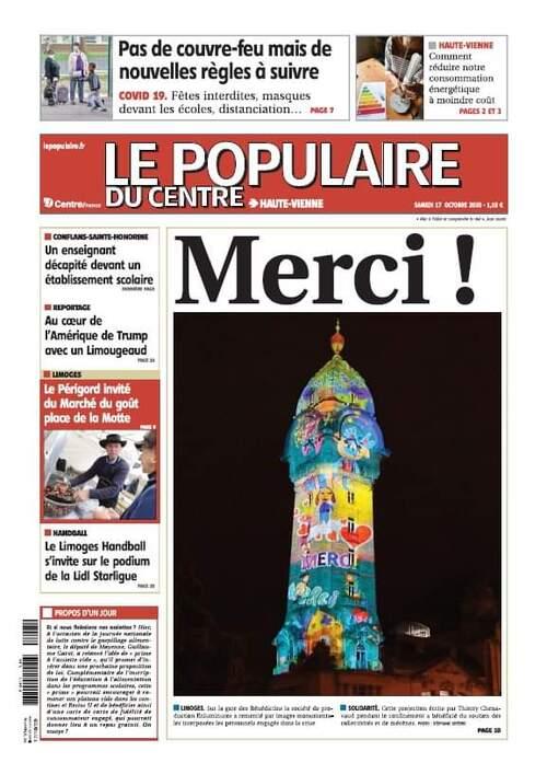 Dernière réalisation à Limoges  ''MERCI''