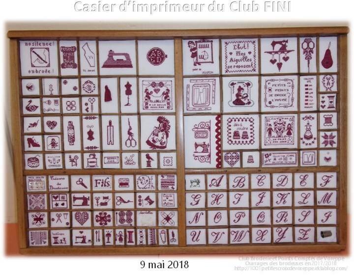 Casier d'imprimeur du club FINI FINI FINI
