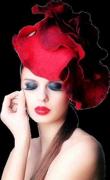 Tubes femmes chapeaux création 17