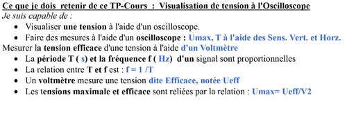 3-Comment visualiser une tension à l'Oscilloscope ?