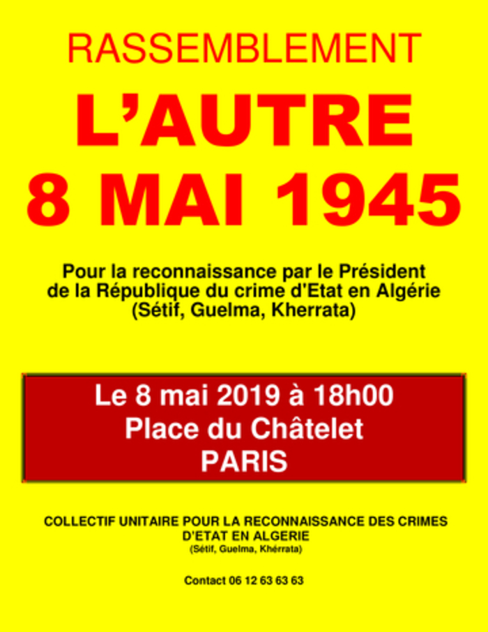 Rassemblement « L'autre 8 mai 1945 »