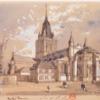 Notre Dame de Calais dessin H Clerget