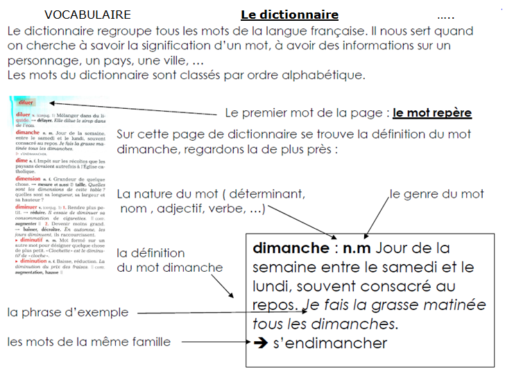exercice sur les synonymes cm2