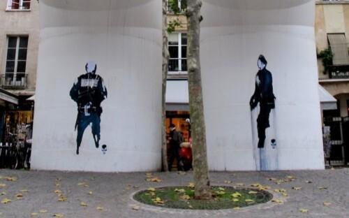 Beaubourg street-art papier bonhomme 5
