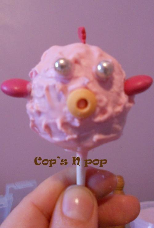 Cake pop comme un poisson dans l'eau...aux madeleines et nutella