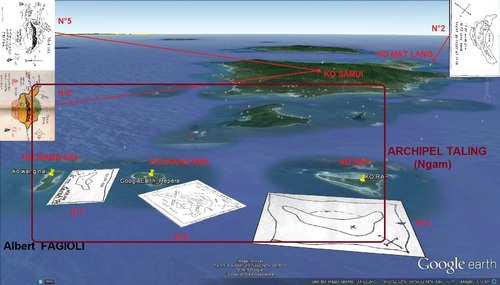 Le puzzle reconstitué du capitaine William Kidd...(Albert Fagioli)(Photo Google Earth)