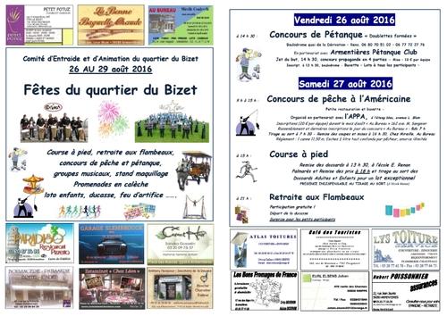 Festivités du quartier du Bizet 2016